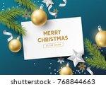 festive christmas composition... | Shutterstock .eps vector #768844663