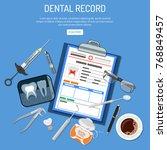 medical dental record concept... | Shutterstock .eps vector #768849457