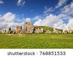 the west kennet long barrow is...   Shutterstock . vector #768851533