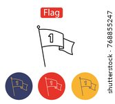 flag icon. the banner sign....