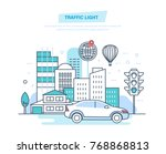 urban landscape  street city ... | Shutterstock .eps vector #768868813
