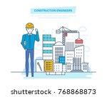 construction engineers worker.... | Shutterstock .eps vector #768868873