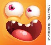 cartoon monster face | Shutterstock .eps vector #768879577