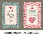 holiday cards with elements for ... | Shutterstock .eps vector #768880363