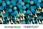 abstract picture with circles... | Shutterstock .eps vector #768895207