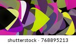abstract geometrical background.... | Shutterstock .eps vector #768895213