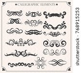 vector set of calligraphic... | Shutterstock .eps vector #768915253