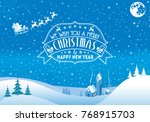 christmas background with retro ... | Shutterstock . vector #768915703