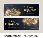 merry christmas card with... | Shutterstock .eps vector #768924607