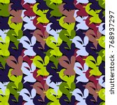 multicolored seamless pattern... | Shutterstock .eps vector #768937297
