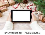 christmas online shopping.... | Shutterstock . vector #768938263
