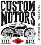 vintage motorcycle labels ... | Shutterstock .eps vector #768956767