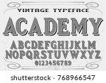 vintage font alphabet...   Shutterstock .eps vector #768966547