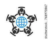 global meeting vector icon.... | Shutterstock .eps vector #768970867