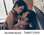 concept of woman's domination... | Shutterstock . vector #768971593