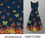 vertical seamless pattern with... | Shutterstock .eps vector #768971983