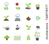plants icons in color set vector | Shutterstock .eps vector #768978577