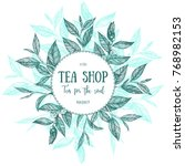 circle concept  tea vector... | Shutterstock .eps vector #768982153
