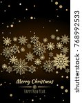 vector merry christmas and... | Shutterstock .eps vector #768992533