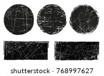 vector grunge shapes.grunge... | Shutterstock .eps vector #768997627