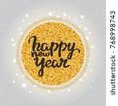happy new year lettering on... | Shutterstock .eps vector #768998743