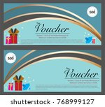 gift voucher template for... | Shutterstock .eps vector #768999127
