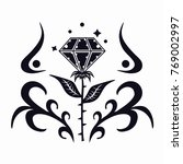 abstract diamond flower art... | Shutterstock .eps vector #769002997