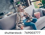 relaxed joyful crazy hungry... | Shutterstock . vector #769003777