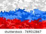 camouflage pattern in colors of ... | Shutterstock .eps vector #769012867