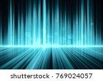 futuristic abstract digital... | Shutterstock . vector #769024057