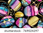 geometric seamless pattern.... | Shutterstock . vector #769024297