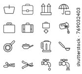 thin line icon set   basket ... | Shutterstock .eps vector #769032403