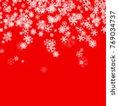 christmas snow seasonal... | Shutterstock .eps vector #769034737