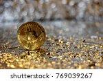bitcoin basic background photo  | Shutterstock . vector #769039267