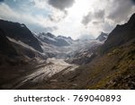 landscape with a view of the...   Shutterstock . vector #769040893