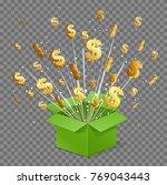 unboxing present gift surprise... | Shutterstock .eps vector #769043443