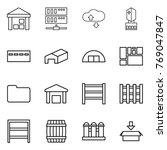thin line icon set   warehouse  ... | Shutterstock .eps vector #769047847