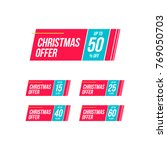 christmas offer   off offer... | Shutterstock .eps vector #769050703