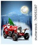 vector christmas card.... | Shutterstock .eps vector #769052287