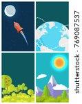 saving earth template  poster...   Shutterstock . vector #769087537