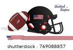 american football helmet and... | Shutterstock .eps vector #769088857