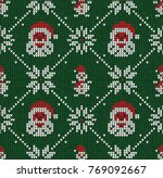 winter christmas x mas knitted... | Shutterstock .eps vector #769092667