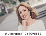 close up portrait of stunning... | Shutterstock . vector #769095553