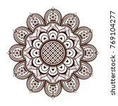coloring. mandala flower... | Shutterstock .eps vector #769104277