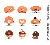 funny cartoon characters.... | Shutterstock .eps vector #769105087