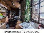 head office in abandoned... | Shutterstock . vector #769109143
