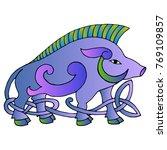 ancient irish mythological... | Shutterstock .eps vector #769109857