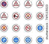 line vector icon set   no... | Shutterstock .eps vector #769115023