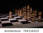 chess photographed on a... | Shutterstock . vector #769116313