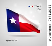 texas state 3d style glowing... | Shutterstock .eps vector #769118353